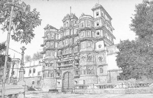 INDIA SKETCHING IN NORTH & SOUTH